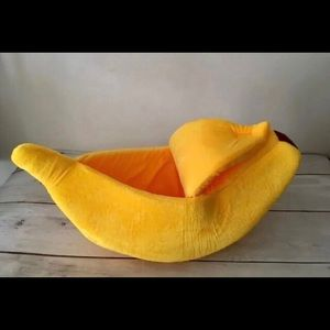 Yellow Banana Pet Bed 🍌